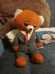 Vintage Commonwealth Toy Co Tuxedo Teddy Bear Pull Cord Voice Box