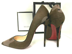 Louboutin New Collector So Kate 38 Pony 120mm 13cm Leather Fetish High Heels