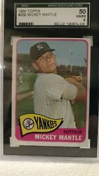 1965 Topps Mickey Mantle 50 Professionally Graded Sgc 50 Vg/ex 4