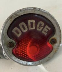 Nice Vintage Dodge Embossed Tail Light Lense And Assembly - 1920's 1930's 1940's