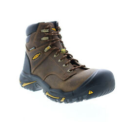 Keen Mt Vernon 1014600 Mens Brown Extra Wide 2e Leather Lace Up Work Boots 12