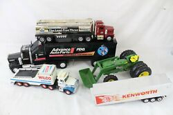 Vintage Toy Truck Tractor Lot Collection John Deere Gas Oil Wilco Amoco Kenworth