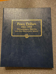 Peace Dollar Full Set 1921-1935 All Mint Marks. 24 Coins. Collectorand039s Set