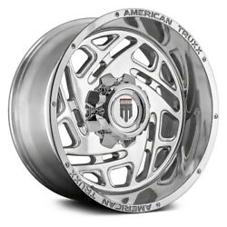 American Truxx At1904 Cosmos Wheels 20x12 -44 5x139.7 Polished Rims Set Of 4