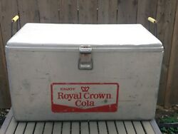Vintage Royal Crown Rc Cola Aluminum Cooler Ice Chest W/bottle Openers