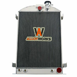 4 Row Aluminum Radiator For 1930-1932 Ford Model A B-series Chevy V8 Engine 1931