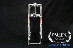 2007 Harley Dyna Cvo 43mm Inverted Front Fork Triple Tree Axle Full Suspension