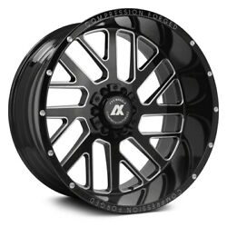Axe Ax2.0 Compression Forged Wheels 20x12 -44, 8x170 Black Rims Set Of 4