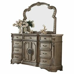 Acme Northville Dresser W/wooden Top, Antique Champagne N/a 9-drawer