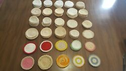 Vintage Lot Of 250 Mini Size Multiple Color Hand Crochet Doilies 4 And 3
