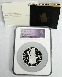 2017 Silver Great Britain 5 Oz Queen's Beast The Lion Proof 10 Pds Ngc Pf 70 Uc