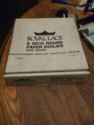 Vintage Royal Lace Paper Round Doilies, White, 8 Inch, 500 Pack