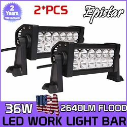 2x 36w 8 Led Work Lights Driving Truck For Jeep Boat Tractors Boat Truck Car Us