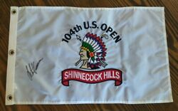 Shinnecock Hills Golf Pin Flag Embroidered 104th Us Open Goose Autograph 2004