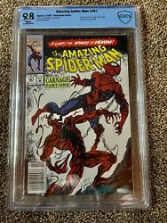 The Amazing Spiderman 361 Cbcs 9.8 Newsstand Edition First Appearance Carnage