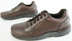 Rockport Men's Ridgefield Eureka Leather Casual Shoes Cd4 Brown Size Us8