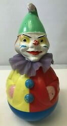 Retro Vintage Rolly-toys Clown Made In Western Germany A Little Scary 12