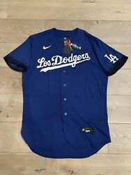 Los Angeles Dodgers Nike Royal 2021 City Connect Authentic Jersey 48 Large