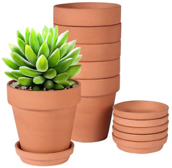 4 Inch Terra Cotta Pots With Saucer Pack Of 6 Clay Flower Pots Cactus Diy Flower