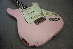 Custom Vintage 60and039s Relic Shell Pink Stratocaster Guitar Fender Deluxe Hard Case
