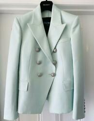 Balmain Mint Double-breasted Blazer Fr38 Uk10 Rare Sold Out Style Jacket New