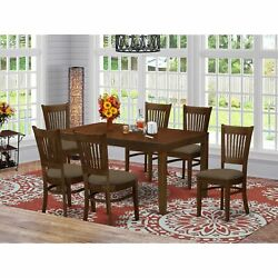 7-piece Dining Set - Table With 12 Leaf And 6 Chairs