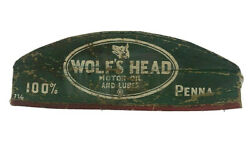 Wolfand039s Head Gas Oil Station Advertising Attendents Cap Hat Ac
