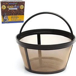 Goldtone Reusable 8-12 Cup Basket Coffee Filter Fits Mr. Coffee Makers And Brewe