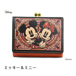 Mickey Mouse Minnie Wallet Coin Card Case Stained Glass Disney Japan Gift