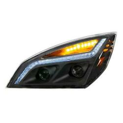 United Pacific Chrome 35821 Projection Headlight Lh Blackout Led 18-20 Cascadia
