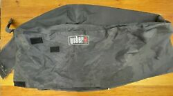 Weber 7454 Vinyl Cover, Fits Charcoal Grills With Work Table In Used Condition