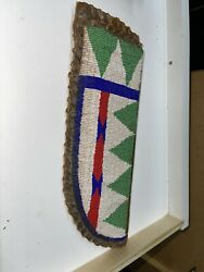 Native American Indian Sioux Tribe Beaded Large Knife Sheath - Late 1800andrsquos