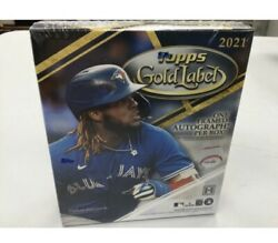 2021 Topps Gold Label Hobby Box Factory Sealed Free Shipping