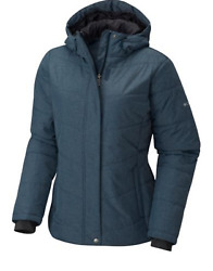 Columbia Womenand039s Mccleary Pass Insulated Hooded Winter Jacket Blue Heather Nwt