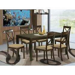 7-piece Kitchen Set - Dining Table And 6 Dining Chairs In