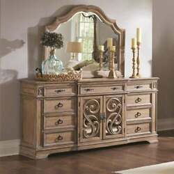 Wooden Dresser With Traditional Design, Brown Brown 7-drawer