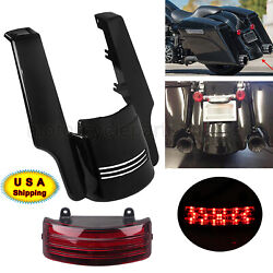 5and039and039 Rear Fender Extension And Tri-bar Tail Light For Harley Touring 2014-2020 Usa