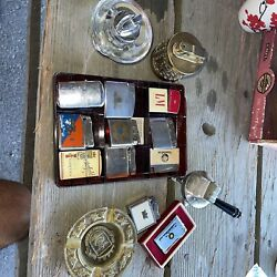 Vintage Lighter Lot   Ronson Camel Chesterfield Lmkaweeapollo And More