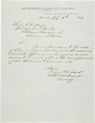 Thomas William Brent - Autograph Letter Signed 07/16/1862