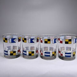Abercrombie And Fitch Signal Flag 14oz Glasses_old Fashion 4andrdquobar Tumblers_rare