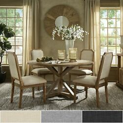 Deana Round Dining Set With Arched Bridge Chairs By Inspire
