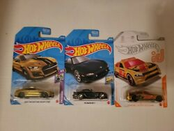 Hotwheels 2020 Ford Mustang Shelby Gt500 Gold Super Th Mazda Rx7 Super Lot Read