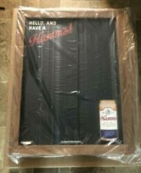 Hamms Beer Chalkboard Can Sign Game Room Man Cave Restaurant Bar New Mib