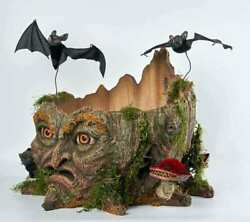 19 Tree Stump Candy Container Katherine's Collection Halloween 28-128209 New