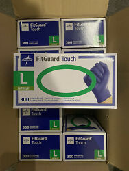 Medline Fitguard Touch Nitrile Exam Gloves Powder Free Case Of 3000