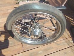 This Is An Old 21-in Left Side Brake Front Wheel Off Harley Shovelhead Tire Not