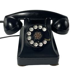 1939 Telephone Western Electric Bell System F1 Black Rotary Dial Desk Phone