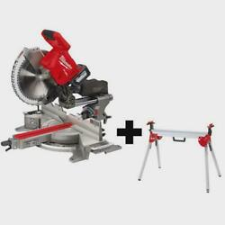 Sliding Compound Miter Saw 1/2 In. 18-volt Brushless 1-battery/charger/stand