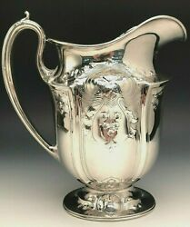 Stunning Reed And Barton Sterling Silver Water Pitcher 9.5 Tall Item 205a