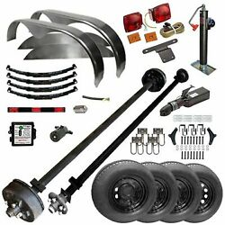 Tk Trailer Kit - Master Plan 1216 - 6and0396 X 16and039 Tandem Axle 7k Utility Lowboy Tra